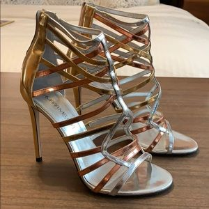 Tamara Mellon metallic sandals 39.5 Sexy!